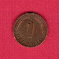"""GERMANY  1 PFENNIG 1978 """"F"""" (KM # 105) #5322 - [ 7] 1949-… : FRG - Fed. Rep. Germany"""
