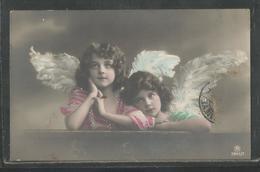 Deux Fillettes Avec Ailes - Ange - Coiffure - - Portraits