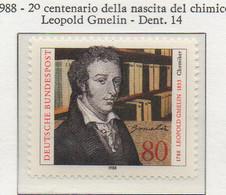 PIA - GERMANIA : 1988 : 2° Centenario Della  Nascita Del Chimico Leopold Gmelin - (Yv 1209) - Chimica