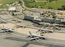 AEROPORTO-AEROPORT-AIRPORT-FLUGHAFEN-AERODROM-ZURICH-CARTOLINA NON VIAGGIATA - Aerodrome