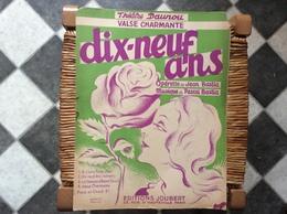 DIX-NEUF ANS *Jean Bastia *Pascal Bastia  THÉÂTRE DAUNOU Valse Charmante  @ GRAND FORMAT - Scores & Partitions
