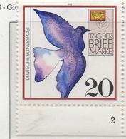 PIA - GERMANIA : 1988 : Giornata Del Francobollo - Piccione Viaggiatore - (Yv 1220) - Giornata Del Francobollo