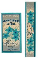 Etiquette & Bande De Garantie - Lotion Narcisse De Nice - HOSY Parfumeur - 2 Scans - Etiquettes