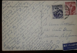 O) 1953 AUSTRIA, COSTUMES, SALZBURG, TYROL INN VALLEY, COSTUMES -COSTUMI -KOSTUME -POSTAL CARD KITZBUHEL, MIT FLUGPOST, - Other