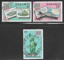 Bahamas Scott # 597-8,601 Used AMERIPEX 86, 1986 - Bahamas (1973-...)