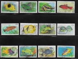 Bahamas Scott # 604-15 Used Short Set Fish, 1986 - Bahamas (1973-...)