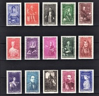MONACO 1942  - SERIE Y.T. N° 234 A 248  -  15 TP NEUFS** /3 - Unused Stamps