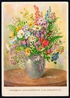 5238 - Glückwunschkarte Geburtstag - Blumen - Künstlerkarte - Blumen