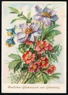 6206 - Glückwunschkarte Geburtstag - Blumen - Künstlerkarte - Verlag Reichenbach - Blumen