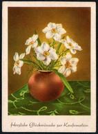 6209 - Glückwunschkarte - Blumen - Künstlerkarte - Verlag Brück & Sohn Meissen - Blumen