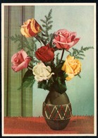 6207 - Glückwunschkarte - Blumen - Künstlerkarte - Verlag Nenke & Ostermaier Drsden - Blumen