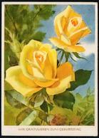 5460 - Glückwunschkarte Geburtstag - Blumen - Künstlerkarte - Verlag Reichenbach - Blumen