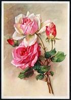 A5465 - Glückwunschkarte - Blumen Rosen - Künstlerkarte DDR - Carl Warnecke Halle - Blumen