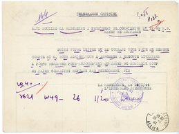 ALLIER TELEGRAMME LA MADELEINE ALLIER 1944 - Postmark Collection (Covers)