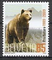 Schweiz Mi.Nr. 2093 ** Europäischer Braunbär 2009 (2017296) - Schweiz