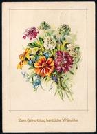 A6457 - Glückwunschkarte Geburtstag - Blumen - Künstlerkarte DDR - Verlag Meissner & Buch Leipzig - Blumen