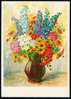 A4542 - Schilling Glückwunschkarte Geburtstag - Blumen - Künstlerkarte DDR - Verlag Reichenbach - Blumen