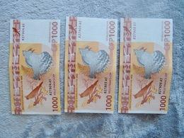 Set Of Three Pacific Francs 1000 XPF Banknotes - Banknotes