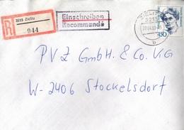 ! 1 Einschreiben 1993 Mit Alter Postleitzahl + DDR R-Zettel  Aus 3215 Zielitz - [7] République Fédérale