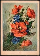 A9009 - Glückwunschkarte Geburtstag - Blumen - Künstlerkarte Jo - Blumen