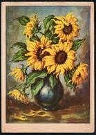 A3688 - Glückwunschkarte Geburtstag - Blumen Sonnblumen - Künstlerkarte Jo Tra ??? - Blumen