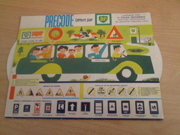 PUB719 OBJET PUBLICITAIRE ANNEES 70 LE PRECODE BP Jeu D'apprentissage Du Code De La Route - Cars