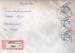 ! 2 Einschreiben 1993 Mit Alter Postleitzahl + DDR R-Zettel  Aus 3270 Burg - BRD