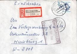 ! 1 Einschreiben 1992 Mit Alter Postleitzahl + DDR R-Zettel  Aus 3511 Tangerhütte - [7] Federal Republic