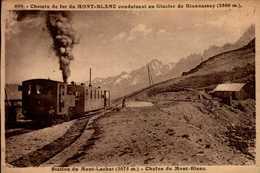 CHEMIN DE FER DU MONT BLANC...TRAIN....CPA - Trains