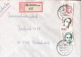 ! 1 Einschreiben 1992 Mit Alter Postleitzahl + DDR R-Zettel  Aus 3551 Osterburg - [7] Federal Republic