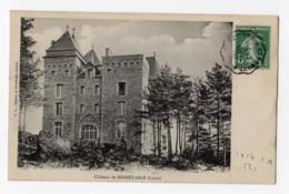 Convoyeur N° 1614 Type 1 RetourSt ETIENNE A CLERMONT Fd 1908 Carte Chateau Noiretable (loire) - Postmark Collection (Covers)