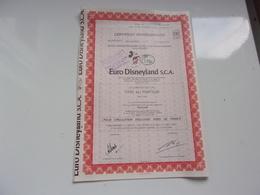 EURO DISNEYLAND (titre De 100 Actions) - Actions & Titres