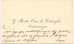 Visitekaartje - Carte Visite - Hoofdonderwijzer G. Boute - Van De Calseyde - Adegem - Cartoncini Da Visita