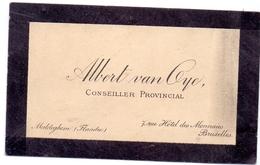 Visitekaartje - Carte Visite - Conseiller Provincal - Albert Van Oye - Bruxelles - Maldegem - Cartoncini Da Visita
