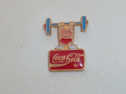 Pin's COCA COLA SPONSOR BARCELONE, COBI HALTEROPHILE - Jeux Olympiques