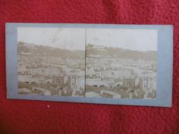LE HAVRE PANORAMA DE LA COTE PRIS DE L HOTEL DE VILLE PHOTO STEREO CIRCA 1860 C S M - Places