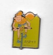 Pin's  Ville, Sport  CYCLISME, LA  POSTE  A.S.P.T.T  MULHOUSE  ( 68 ) - Postes