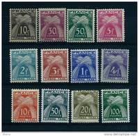 """FR Taxe YT 78 à 89 """" Type Gerbes Timbre-Taxe """" 1946-55 Neuf** - 1859-1955 Postfris"""