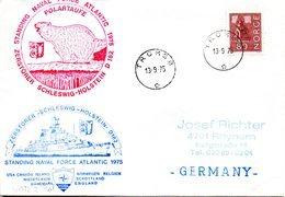 "(FC-15) Zerstörer Schleswig-Holstein D182""Teilnahmebeleg Manöver STANDING NAVAL FORCE ATLANTIK 1975"" EF Norwegen 13.9.75 - Schiffe"