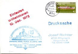"""(FC-13) Zerstörer Schleswig-Holstein D182 """"Teilnahmebeleg Manöver STANDING NAVAL FORCE ATLANTIK 1975"""" EF WB 10.12.75 - Schiffe"""