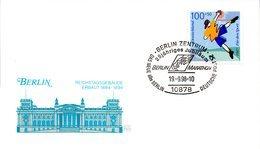 """(BT-3) BRD Sonder-Karte """"BERLIN REICHSTAGSGEBÄUDE"""" EF BRD Mi 1900 SSt. 19.9.1998 BERLIN ZENTRUM - Briefe U. Dokumente"""