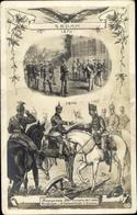 Artiste Cp Sedan Ardennes, Kaiser Wilhelm II. Von Preußen, Kronprinz, Schlachtfeld, EAS 1619 - Militari