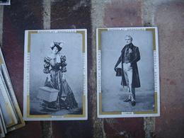 Lot De 10 Theme Theatre Sarah Bernart L Aiglon Chocolat Grondard Chromo - Chocolat
