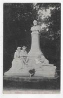 (RECTO / VERSO) AMIENS EN 1916 - N° 45 - LA STATUE DE JULES VERNE - BEAU CACHET - CPA VOYAGEE - Amiens
