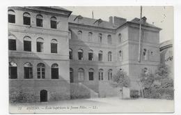 (RECTO / VERSO) AMIENS EN 1910 - N° 71 - ECOLE SUPERIEURE DE JEUNES FILLES - BEAU CACHET - CPA VOYAGEE - Amiens