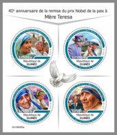 GUINEA REP. 2019 MNH Mother Teresa Pope Jon Paul Queen Elisabeth Lady Diana Nelson Mandela M/S - IMPERFORATED - DH1929 - Mère Teresa
