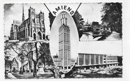 (RECTO / VERSO) AMIENS EN 1963 - N° 233 - MULTIVUES AVEC LA GARE DU NORD - LEGER PLI ANGLE HAUT A DROITE - FORMAT CPA - Amiens
