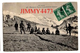 CPA - Manoeuvres Alpines En 1910 - Campement De Chasseurs - LES ALPES - Edit. Fournier N° 481 - Manoeuvres