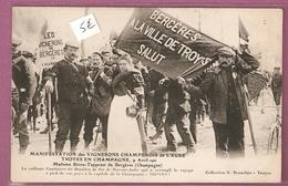 Cpa Manifestation Des Vignerons Champenois De L'Aube Troyes 9 Avril 1911 Mme Brion Tapprest Coll Brunclair - Troyes