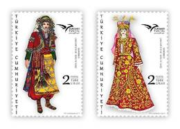 TURKEY/2019 - EUROMED (MEDITERRANEAN COSTUMES), MNH - Nuevos
